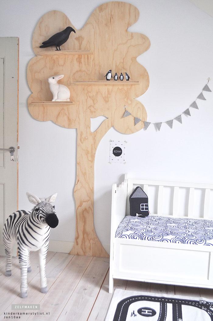kinderkamer decoratie hout wandboom karwei - babybegood, Deco ideeën